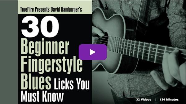 30 Beginner Fingerstyle Blues Licks